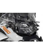 Scheinwerferschutz Edelstahl schwarz mit Schnellverschluss für BMW F850GS Adventure *OFFROAD USE ONLY*