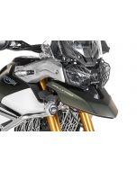 Scheinwerferschutz schwarz mit Schnellverschluss für Triumph Tiger 900 *OFFROAD USE ONLY*