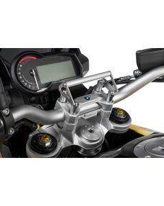 GPS-Anbauadapter BMW F850GS / F850GS Adventure auf Lenkerklemmung für Lenkererhöhung 20 mm Anbauadapter/GPS-Halter/Navi-Halter