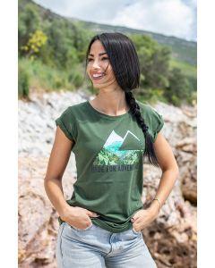 """T-Shirt """"Triangle View"""" Damen, khaki"""