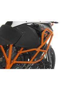 Sturzbügelerweiterung KTM 1050 Adventure/ 1090 Adventure/ 1190 Adventure/ 1190 Adventure R für original KTM-Sturzbügel, orange